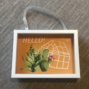 NWOT Urban Outfitters cactus wall hanging